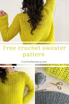 easy crochet sweater pattern free crochet easy pattern for this beautiful simple sweater ,you will find instructions to adapt it to any size you want. Pull Crochet, Crochet Hooks, Crochet Top, Double Crochet, Single Crochet, Crochet Shirt, Crochet Pattern Free, Crochet Gratis, Crochet Cardigan Pattern Free Women