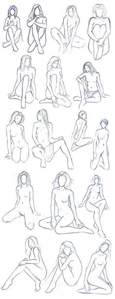 Female Poses - Human body study - Drawing Reference