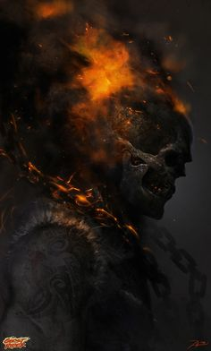 Ghost Rider by Adnan Ali (Marvel comics) Comic Book Characters, Marvel Characters, Comic Books Art, Comic Art, Marvel Comics Art, Marvel Vs, Marvel Heroes, Ghost Rider Johnny Blaze, Ghost Rider Marvel