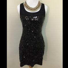 ⚡️Black Sequin Dress⚡️ Beautiful little black sequin dress! Worn a handful of times. Make me an offer! :) Express Dresses