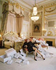 If only my bedroom looked like this and I was tired from long day of CHANEL.