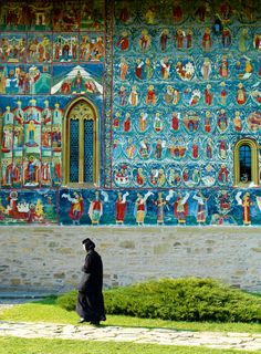 Image of churches, monastery, church, tower - 720529 Kirchen, Fresco, Romania, Religion, Tower, Nun, Architecture, Illustrations, Image