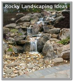 You can ditch the pond if you want a water feature with less maintenance needed. A pondless/disappearing waterfall is still a perfect garden focal point!looks the one outside of the chemo window when my mom had treatments. Diy Water Feature, Backyard Water Feature, Ponds Backyard, Backyard Waterfalls, Backyard Ideas, Rustic Backyard, Garden Waterfall, Waterfall Fountain, Wall Waterfall