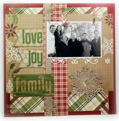 Christmas Scrapping Page...with snowflake...by Cindy Lawrence.