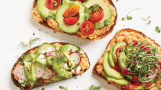 White Bean & Roasted Red Pepper Toasts with Avocado. Toast is the fastest, easiest breakfast ever — and this one is packed with protein and plenty of fiber from this flavorful bean spread. Make it the night before for faster breakfast prep. We've suggested some options for toppings, but you can also customize it with ingredients you have at home.