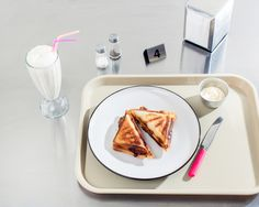 lunch // pork belly . provolone toastie + salt caramel shake [ the design files . sandwich . milkshake . tasty tuesday ]
