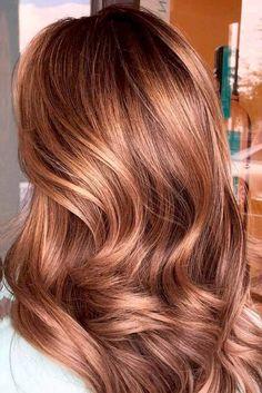 Honig-Karamell-Haarfarbe