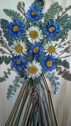 Pressed Flower Art on Wooden Plaque For You by FlowerFelicity, $26.99