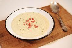 Schnelle Blumenkohlsuppe mit Schinken - fettarm, Low Carb, cremig und lecker! :)