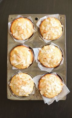 Super easy, gluten free, pineapple coconut muffin recipe. They are fab afternoon snack with a cup of tea! Gluten Free Muffins, Gluten Free Desserts, Dessert Recipes, Coconut Desserts, Coconut Recipes, Cake Recipes, Pineapple Recipes Gluten Free, Coconut Roll Recipe, Gluten Free Baking Recipes