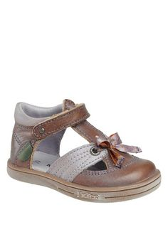 low priced 1cc54 e2980 Trisha T-Bar Sandal with Bow by Kickers Kids on  HauteLook T Strap Shoes
