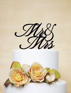 Mr & Mrs Wedding Cake Topper by AcrylicDesignForYou on Etsy