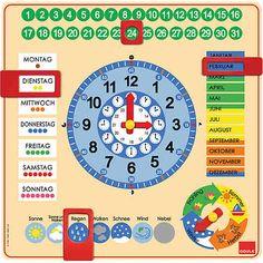 GOULA Kalenderuhr Montessori inspiriertes #Lernspielzeug #montessori #jahreszeiten #wochentage #uhrzeit #wetter #kalender