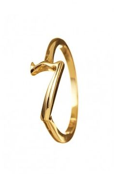 We are coveting the 14k gold Code Ring Seven by @Lulu Frost for $440 #lulufrost #rings #giftideas