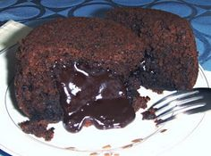 Vegan HEALTHY Molten Chocolate Cakes made with Zucchini and Spinach