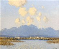 Cottages, Connemara by Paul Henry