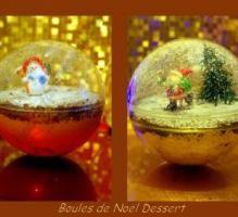 Recette - Boule de Noël dessert : mousse au choco-nutella sous un lit de biscuits chocolat - Proposée par 750 grammes