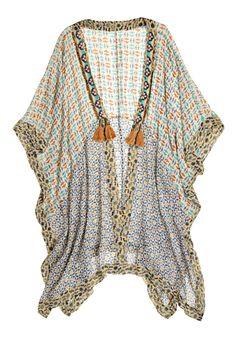 Sisal Printed Silk Kimono