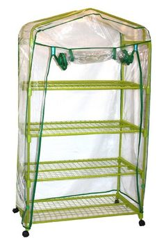 Midwest Glove And Gear 59-Ea-Az-3 Wire Grid Garden Greenhouse With Pvc Zippered Cover, Yellow, 2015 Amazon Top Rated Parts & Accessories #Lawn&Patio