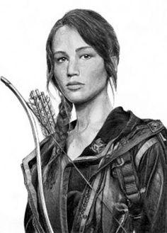 The Hunger Games, Katniss Everdeen Braid Fan Drawings