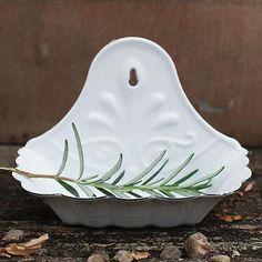 Antique White Soap Dish | dotandbo.com