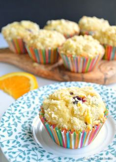 Blueberry Muffins with Brown Butter and Orange - Sugar Dish Me