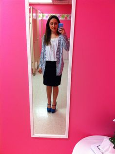 My outfit for Sunday morning church:) loving my pencil skirt from forever 21 and Mary Jane pumps from Charlotte Russe.