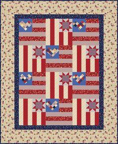 "Heidi Pridemore's quilt, ""Stars and Stripes, free"