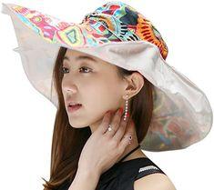 Amazon.com: Women's Foldable Floppy Reversible Travel Beach Sun Visor, Beige, Size One Size: Clothing Sun Visor Hat, Visor Hats, Women's Hats, Caps Hats, Sun Hats For Women, Caps For Women, Sun Protection Hat, Floppy Sun Hats, Anti Uv