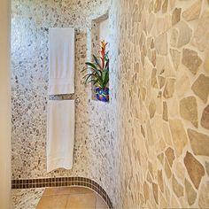 Bathrooms & Showers - Pebble Tile Shop Modern Bathroom Decor, Bathroom Wall, Master Bathroom, Bathroom Ideas, Mosaic Tiles, Wall Tiles, Marble Mosaic, Matching Paint Colors, Modern Home Furniture
