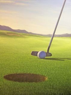 art on canvas Golf Tee and Ball Golf Course by LMCstudios on Etsy   $165  LARGE