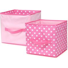 Pinwheel Sweet Dreams Collapsible Storage Bin, 2pk