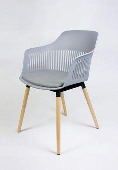 SK Design KR064 Jasnoszare Krzesło Tapicerowane - Szary   Udekoruj Dom Dom, Accent Chairs, Furniture, Home Decor, Upholstered Chairs, Decoration Home, Room Decor, Home Furniture, Interior Design