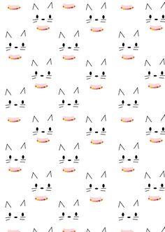 FREE printable kitty CAT pattern paper | minimalism