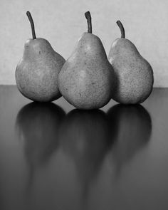 Three Pears Food Photography, Kitchen Art, Fine Art Photography, Black and White, Still Life 8 x 10 Fine Art Print on Etsy, $25.00