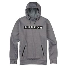 Burton Crown Bonded Pullover Hoodie Monument Heather Large ** Learn more by visiting the image link.