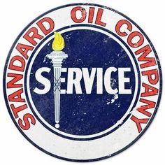 Oil Service, Standard Oil, Metal Signs, Metal Panels