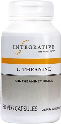 Integrative Therapeutics  LTheanine  100 mg of Suntheanine brand LTheanine  60 Capsules >>> Click on the image for additional details. (It is an affiliate link and I receive commission through sales)