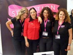 I giudici in compagnia di Martina, componente dello staff organizzativo del Sensation Make Up Talent.