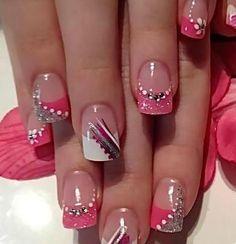 10 Pretty and Trendy Nail Art Designs 2017 - style you 7 Fancy Nails, Diy Nails, Cute Nails, Colorful Nail Art, Trendy Nail Art, Pretty Nail Designs, Nail Art Designs, Nails Design, Spring Nails