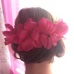 Un favorito personal de mi tienda Etsy https://www.etsy.com/es/listing/285745973/corona-de-flores-de-tela-color-rosa