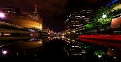 Cambridge MA @ night