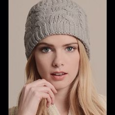Grey Knit Head Warmer Cable knit head warmer Boutique Accessories Scarves & Wraps
