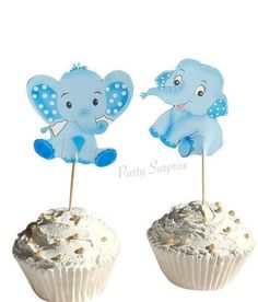 Elephant Cupcake Toppers Blue Elephant Toppers Boy Baby Shower Elephant Decor Custom Hand Made Baby Elephant Baby Boy Shower by PartySurprise on Etsy Elephant Baby Boy, Elephant Baby Showers, Baby Boy Shower, Safari Party Decorations, Elephant Cupcakes, Gender Reveal Decorations, Puppy Party, Unicorn Party, Cupcake Toppers