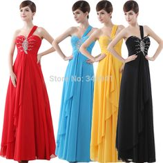 Find More Evening Dresses Information about Free Shipping One Shoulder Sweetheart Crystal Chiffon Celebrity Dress Floor Length Long Prom Gown Evening Dresses,High Quality Evening Dresses from Custom dress cloud store on Aliexpress.com