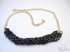 FREE Tutorial:Braided Seed Bead Necklace Get your DIY Kit and make it yourself Seed Bead Necklace, Seed Beads, Beaded Necklace, Diy Kits, Diy Jewelry, Seeds, Braids, How To Make, Free