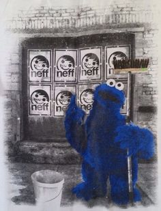 Cookie Monster Tagger by Neff Cookie Monster, Painting, Art, Longing For You, Childhood, Art Background, Painting Art, Kunst, Paintings