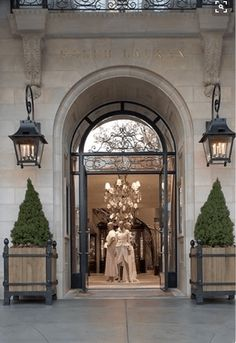 """original pinner says, """"Ralph Lauren store on Greenwich Avenue is a newly built structure with an imposing Beaux-Arts limestone facade, large arched windows and balconies;"""