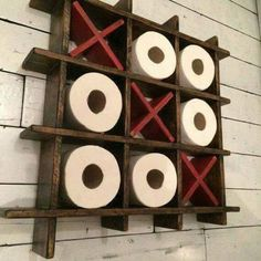 Another answer to the eternal question of how to store your extra toilet paper!