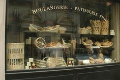 boulangerie window display...more to love about Paris